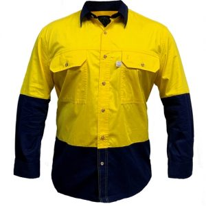 Ritemate RMPCAC03 Men's Australian Cotton Hi Viz Shirt
