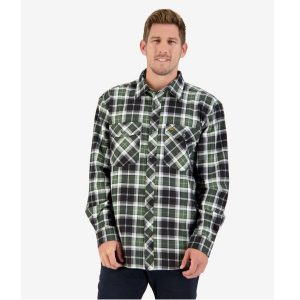 Swanndri SE18250M Black & Green Men's Egmont Full Placket Shirt Twin Pack