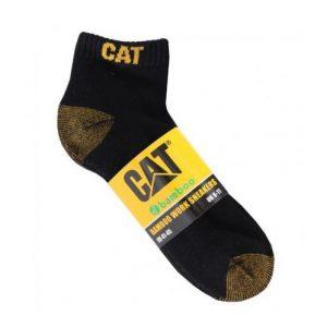CAT P000149-016 5 PACK BAMBOO ANKLE SOCKS BLK