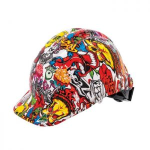 FORCE360 HPFPR57R-HD4 Hydro Dipped Hard Hat - Type 1 Mad Skull